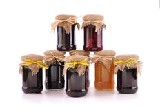 Jam in the glass jars Royalty Free Stock Photography