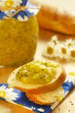 Jam from gooseberry and orange Royalty Free Stock Photos