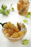 Jam of green gooseberries Royalty Free Stock Image