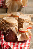 Jam in jar Royalty Free Stock Image