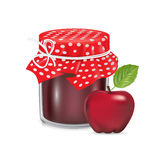 Jam jar with apple fruit  Stock Photos