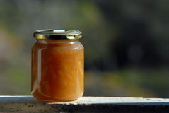 Jam jar in the Royalty Free Stock Image