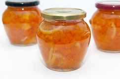 Jam in jar Stock Images