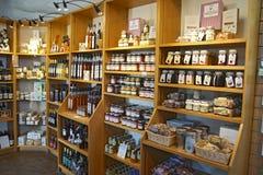 Jam jar rack Stock Photo