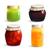 Jam Jar Set Royalty Free Stock Photos