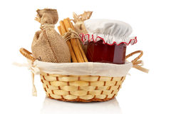 Jam jar, sticks of cinnamon Stock Photo