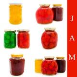 Jam jars Royalty Free Stock Photos