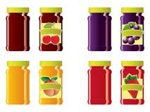 Jam jars Stock Images