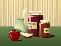 Jam in jars Stock Photo