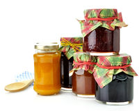 Jam in the jars Stock Images