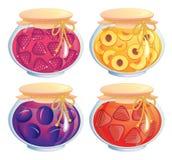 Jam jars collection Royalty Free Stock Photos