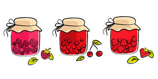 Jam jars collection Royalty Free Stock Images