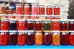 Jam Jars Stock Photography