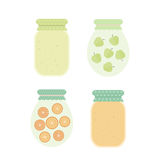 Jam in jars. Vector illustration Stock Images
