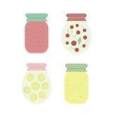 Jam in jars. Vector illustration Stock Photos