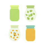 Jam in jars. Vector illustration Royalty Free Stock Image