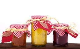 Jam, jelly and pickle Stock Photos