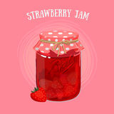 Jam in a jur Stock Photo