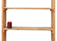 Jam-kruik in houten plank Stock Foto's