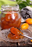 Jam of kumquat. Stock Photos