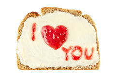 Jam love message Royalty Free Stock Photos
