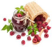 Jam made from fresh natural raspberry Stock Photography