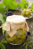 Jam made from green grapes. Royalty Free Stock Photography