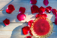 Jam made of rose petals Royalty Free Stock Photography