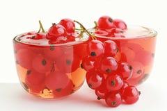 Jam met rode aalbes zoet dessert Royalty-vrije Stock Afbeeldingen