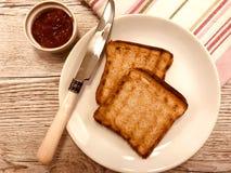 jam morelowa toast obraz royalty free