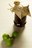 Jam nuts and green fruits Stock Image