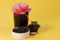 Jam Of Black Currants Stock Photography