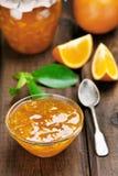 Jam from orange fruits Stock Photography