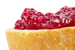 Jam over the bread Royalty Free Stock Photo