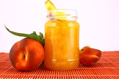 Jam peach Stock Photo