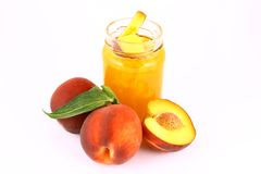 Jam peach Royalty Free Stock Image
