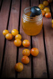 Jam of plums Royalty Free Stock Photo