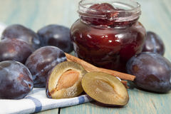 Jam from plums. Stock Photo