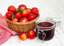 Jam with plums Royalty Free Stock Photo