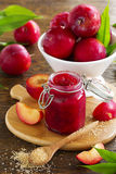 Jam from plums Royalty Free Stock Photography