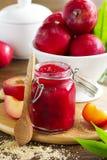 Jam from plums Stock Photos
