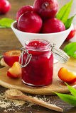 Jam from plums Stock Images