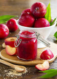Jam from plums Royalty Free Stock Image