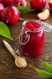 Jam from plums Royalty Free Stock Photos