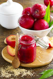 Jam from plums Stock Photo