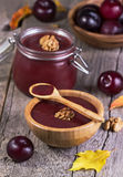 Jam from plums Royalty Free Stock Images