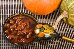 Jam from a pumpkin. Stock Image