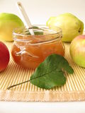 Jam with quince and apple Royalty Free Stock Image