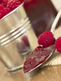 Jam of raspberries Royalty Free Stock Photo