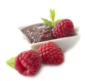 Jam of raspberries Stock Image